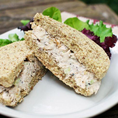 Paleo sandwich bread - made in microwave in ramekins.
