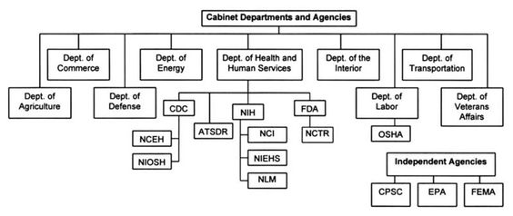 Government agencies and the President's cabinet make up the rest ...