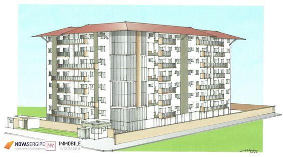 Estudo de viabilidade arquitetônica desenvolvido no Bairro Coroa do Meio, em Aracaju/SE.
