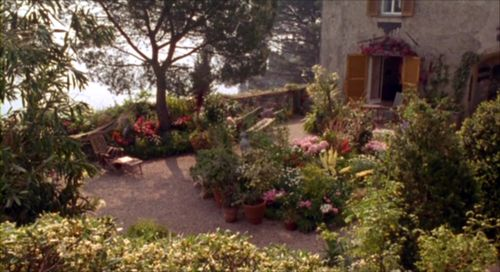 The garden of Castello Brown in Portofino, Italy, as seen in Enchanted April (dir. Mike Newell, 1992):