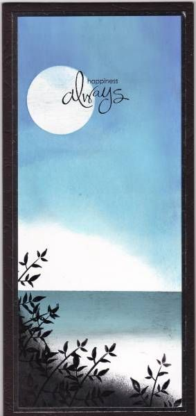 Moonlit Beach Tall by stampandshout - Cards and Paper Crafts at Splitcoaststampers