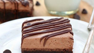 Chocolate Mousse Brownies:
