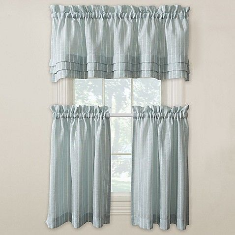 Langley Kitchen Window Curtain Tiers And Valance Cortinas