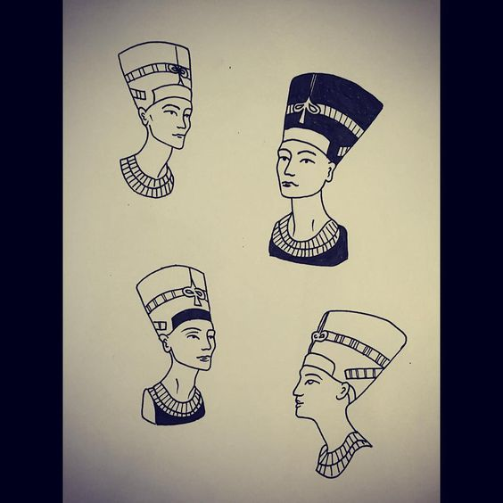 nefertiti tattoos body art pinterest tatuajes. Black Bedroom Furniture Sets. Home Design Ideas