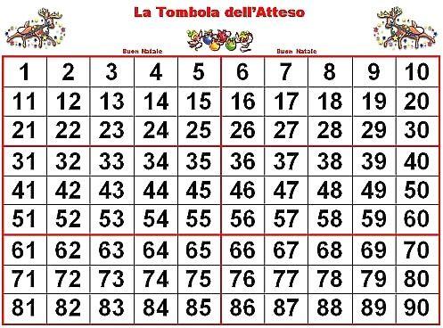 Tabellone Lotto Con Tabellone Lotteria Da Stampare E Tombola 5b1