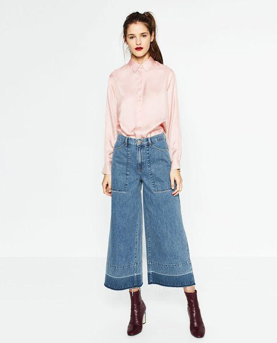 ZARA 女装 七分牛仔裤 08246243400-tmall.com天猫