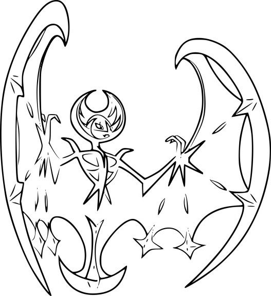 Coloriage Lunala Pokemon Legendaire Dessinde In 2020 Pokemon