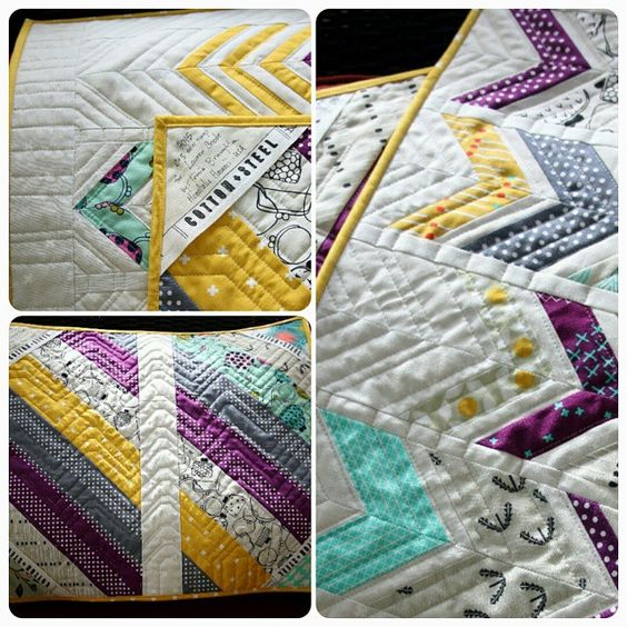 So my swap buddy in the UK received her #cottonandsteelminiquilt and I can post more pics of it now! So happy it found its way across 2 oceans & a continent safely to @laurensewcycle  I loved making this mini!! #cottonandsteel #iloveminiquilts #tinselchen @mushyhed #cottonandsteelminiswap @modernstitchinmama #cottonandsteelminiquiltswap