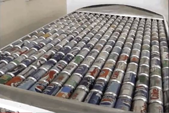 "Heat Your Home With 240 Recycled Aluminum Cans  Heat your home with recycled aluminum cans. It's a simple idea, and one that many will look at and say, ""Why didn't I think of that?""  This 240 can unit reportedly heats up to 10,000 BTUs or more according to the company and is ""Maintenance free""."
