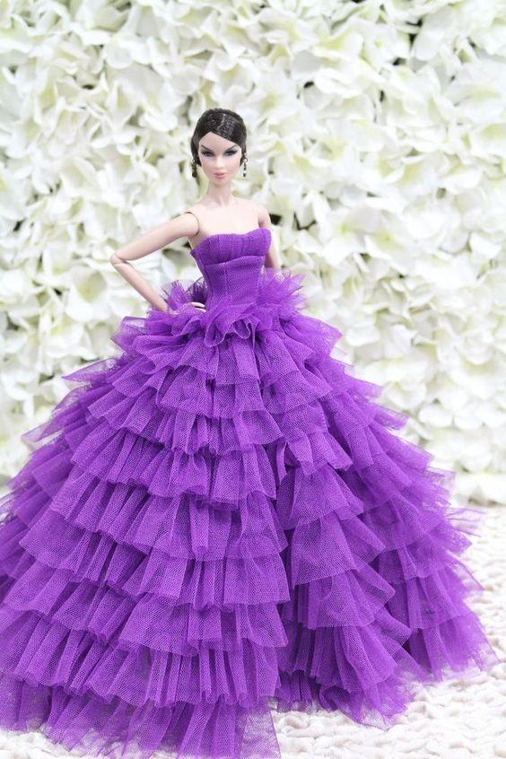 Evening dress for Fashion royalty  / silkstone  dolls by t.d.fashion  #tdfasiondolls: