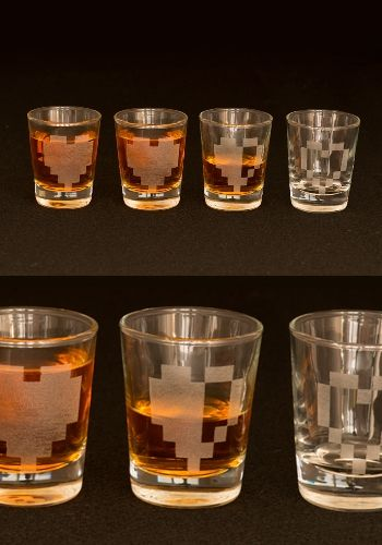 Pixel Hearts Shot Glass Setby Rockhart Clothing - $30.00 for a...