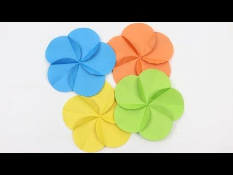 How To Make Simple Easy Spiral Paper Flowers Making Scrapbook