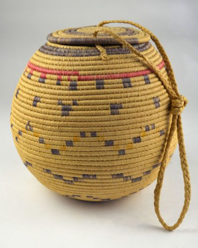 African Baskets With Lids: Tribal Basket North Africa African Handmade Woven With Lid