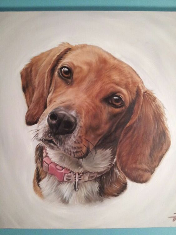 Oil painting of my girl