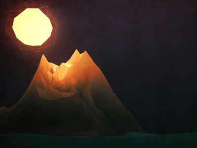 Low Poly Mountain by Scott Ulliman