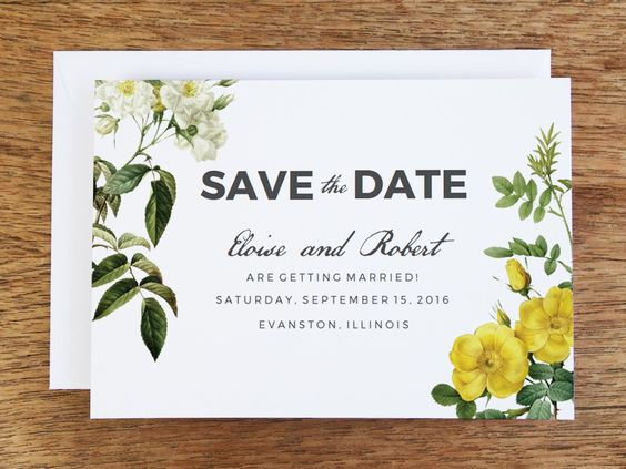 Save the Date Template - Botanical