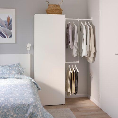 Platsa Armoire Penderie Blanc Fonnes Blanc Ikea Suisse In 2020 Kleiderschrank Fur Dachschrage Kleiderschrank Kleiderschrank Weiss
