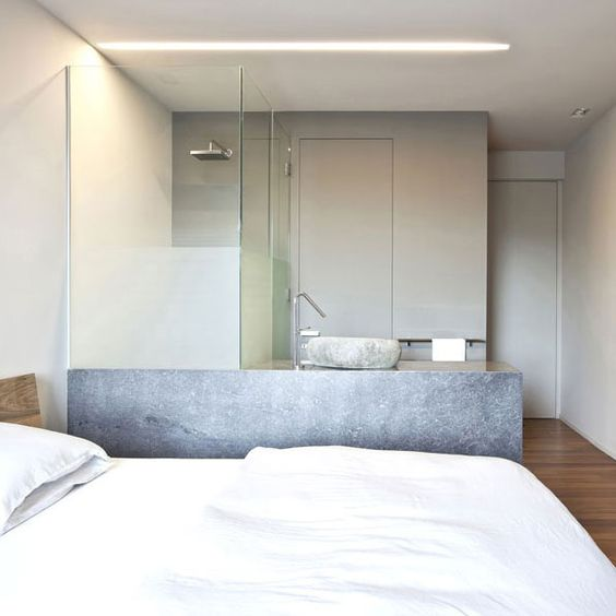 Small hotel room with glass open shower area hotel for Small hotel room