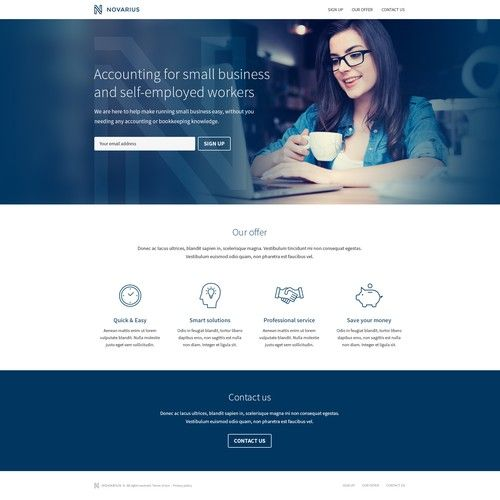 Small Accounting Firm Landing Page Small Accounting Firm For Small Business And Self Employed Workers Landing Page Design Landing Page Page Design