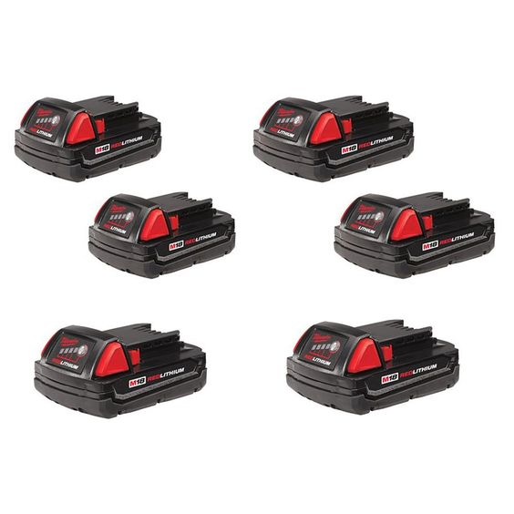 Milwaukee M18 18-Volt Lithium-Ion Compact Battery (6-Pack)