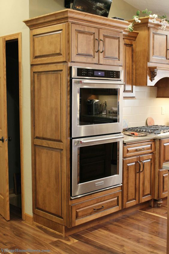 KitchenAid double wall ovens with True #Convection. 5.0 cu. ft. capacity in each oven cavity and the ability to bake 6 racks at once!   |  VillageHomeStores.com