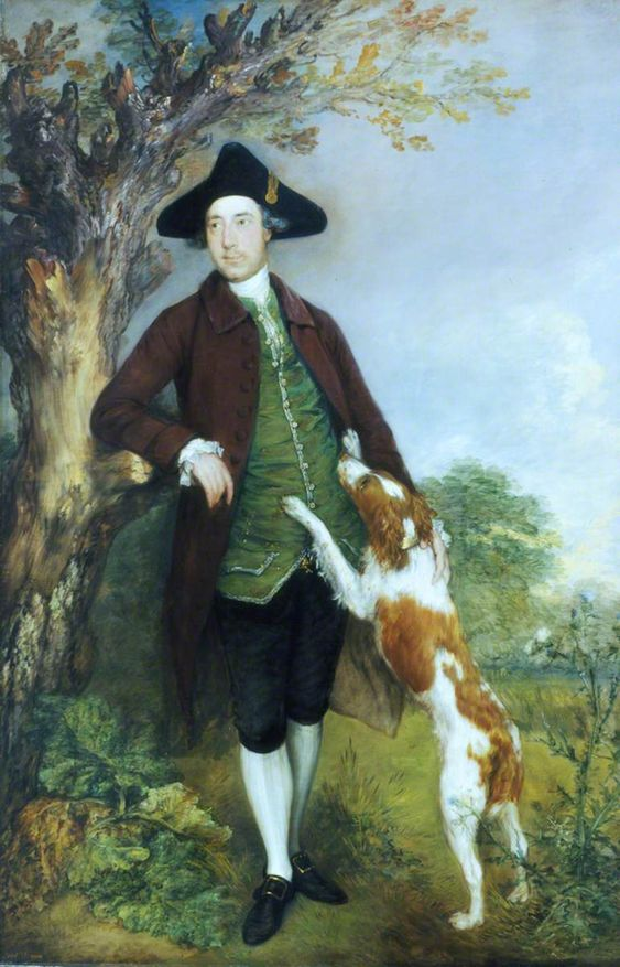 George Venables Vernon (1735–1813) Thomas Gainsborough (1727–1788) Southampton City Art Gallery. George Venables Vernon (1735–1813), second Baron Vernon of Kinderton, was famously fond of hunting. He was the eldest son of George Venables Veron (1709–1780) of Sudbury Hall, Derbyshire, created the first Baron Vernon of Kinderton in 1762. This portrait was previously incorporated into the panelling of the Saloon at Sudbury Hall.