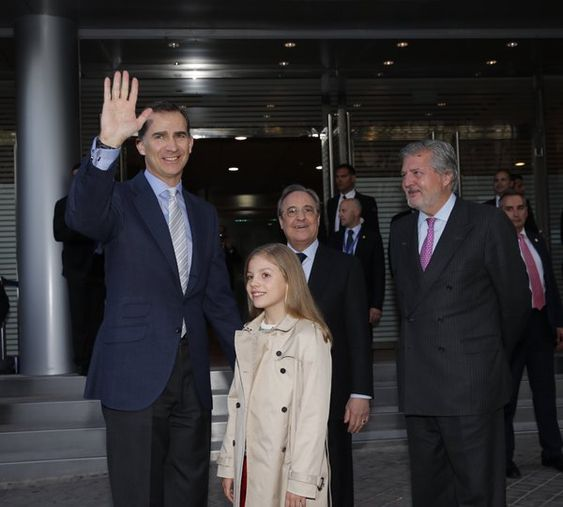 Royals & Fashion - May 4: the Infanta Sofia attends the semi-finals of the Champions League with the king Felipe, Madrid