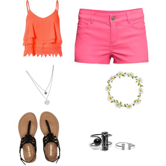 Summer? by birdiesmind on Polyvore featuring polyvore fashion style Glamorous H&M Aéropostale Kenneth Cole Carole