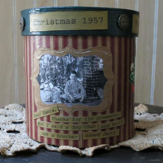 This design started with an adorable vintage Christmas picture and then grew!