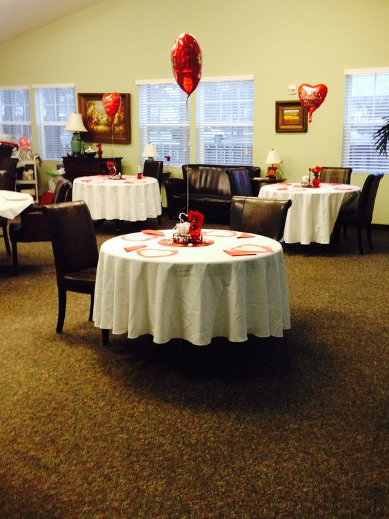 Our beautiful Villas dining room set up for Family Night.