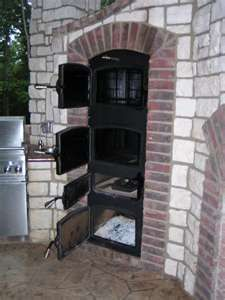 Bbq and masons lets get together and design some pits for for Outdoor kitchen smoker plans