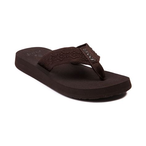 Shop for Womens Reef Sandy Sandal, Brown, at Journeys Shoes. Flip-flop away into the summer with some super cute sandals from Reef. The Sandy features a comfy mid-width polyester strap and arch supported EVA outsole.
