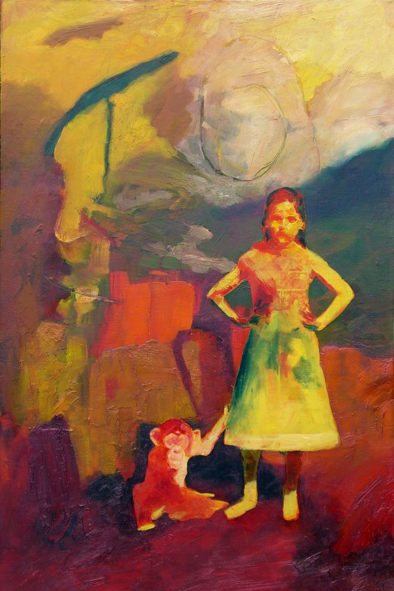 "George E. Huffman ""Portrait of Munk & Sarah (Little Girl #44)"""