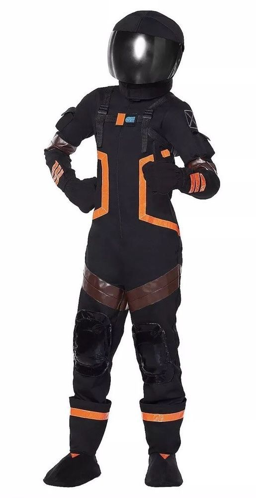 Childrens Fortnite Costume Dark Voyage Large New VHTF