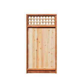 5.7' x 8' Western Red Cedar Lattice-Top Wood Fence Gate  Item #: 267447| Model #: 118733