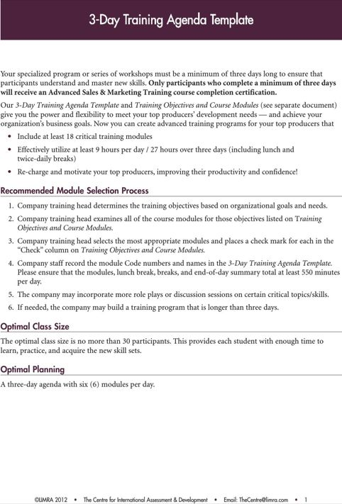 Training Agenda Template TemplatesForms Pinterest – Agenda Forms