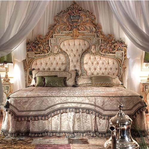 Baroque Wood King Size Bed From China, Extravagant Bedroom Furniture