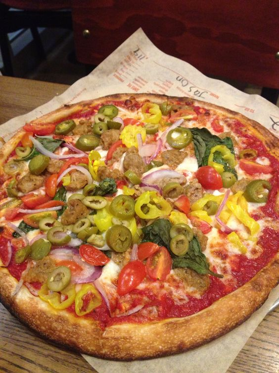 Blaze Pizza-create your own. subway to pizzas