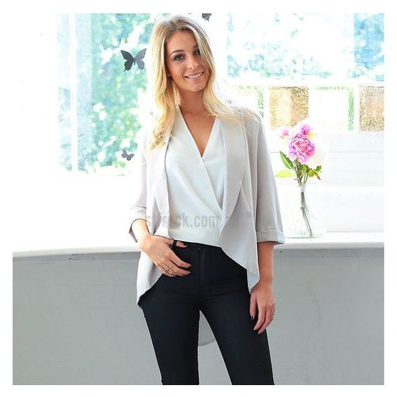Mix up your work wear with the 'Kasumi' Lightweight Blazer in Grey! Only $59.90 at shop.stfrock.com.au! #stfrock #blazer #fashion