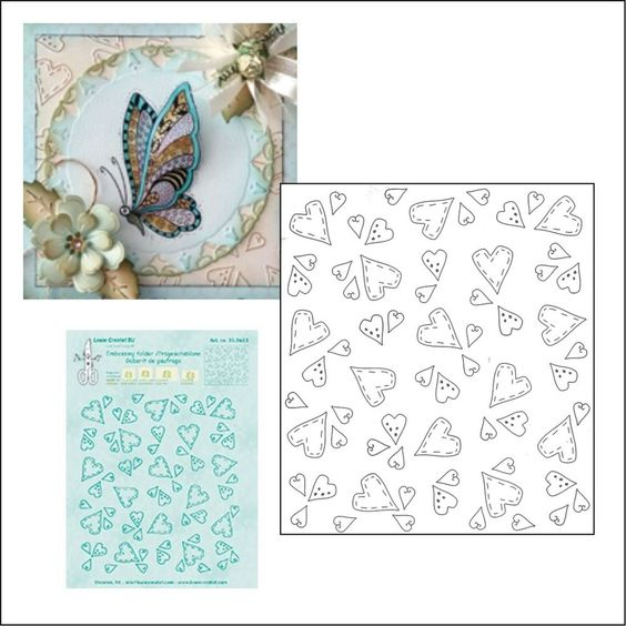 Layered Hearts Embossing Folder Darice Folders Valentine/'s Cuttlebug Compatible