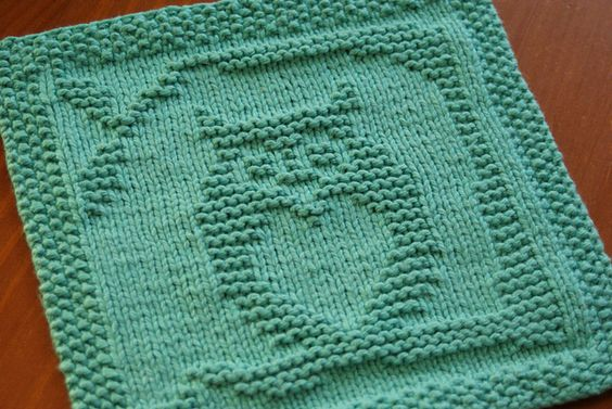 Owl Dishcloth Knitting Patterns Free : Always love you dishcloth and owl on pinterest