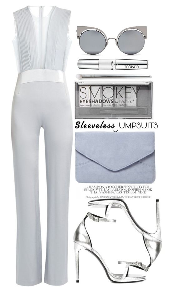 """Untitled #192"" by jade-714 ❤ liked on Polyvore featuring Galvan, Yves Saint Laurent, Dorothy Perkins, Boohoo, Clinique, Fendi and sleevelessjumpsuits"
