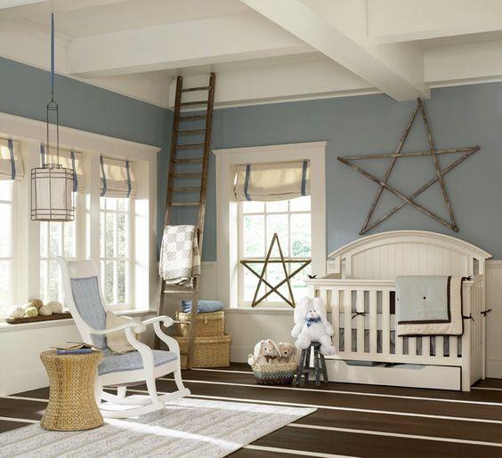 We love the reclaimed star in this room! #nursery