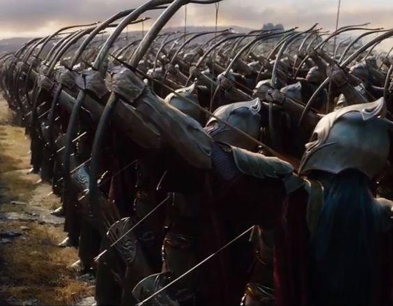 Ejèrcito elfo de Mirkwood en la batalla de los cinco ejércitos- El Hobbit