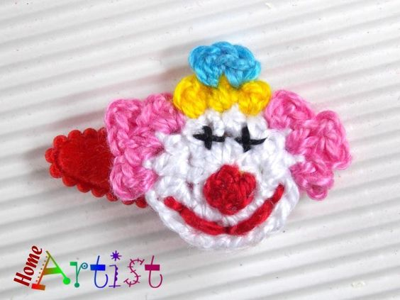Clown Karneval Haarspangen  Spange von Home Artist auf DaWanda.com