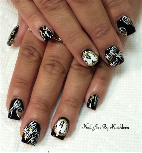 Diseños de uñas para año nuevo 2018