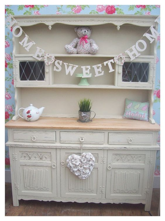 Shabby chic oak welsh dresser   i love this!!! would love one in ...