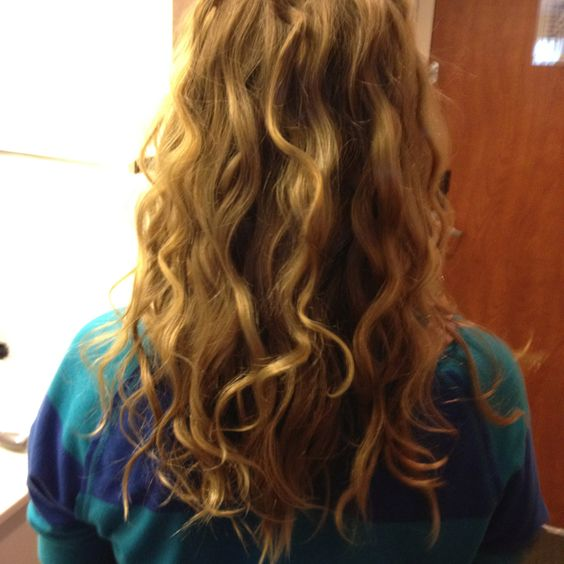 Double barrel curler- first try on sister's hair!