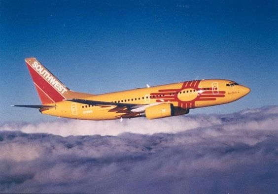 Southwest Airlines New Mexico plane.