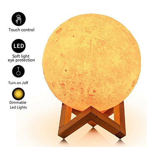 Loftek 7 1 Inch 3d Moon Lamp Cool Mood Lamp With Stand Https Www Amazon Com Dp B079bffd2g Ref Cm Sw R Pi Awdb T1 X We Moon Decor Mood Lamps Night Light